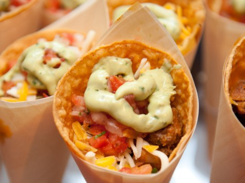 A twist on the traditional, our taco cones make your event extra special. ---Photo by Laura Black Photography