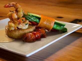 Unlike other Baltimore Caterers, we do all our cooking onsite! Composed Shrimp Entree