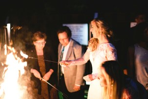 Hot s'mores over a campfire... an ideal end to your event