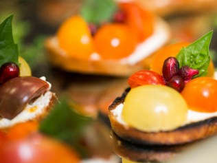 Bringing color to DC Catering with a bright seasonal canape