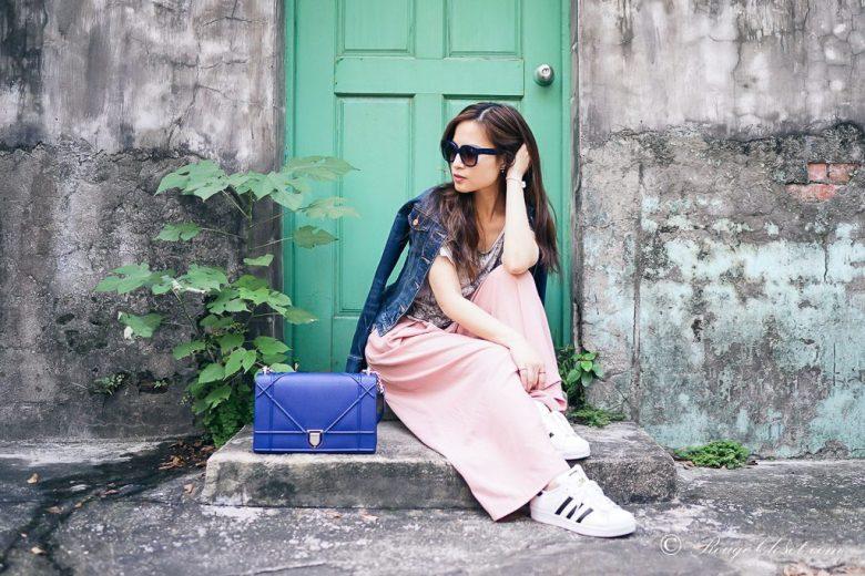 "Dior Diorama Bag ""BLEU DE MINUIT GRAINED CALFSKIN"""