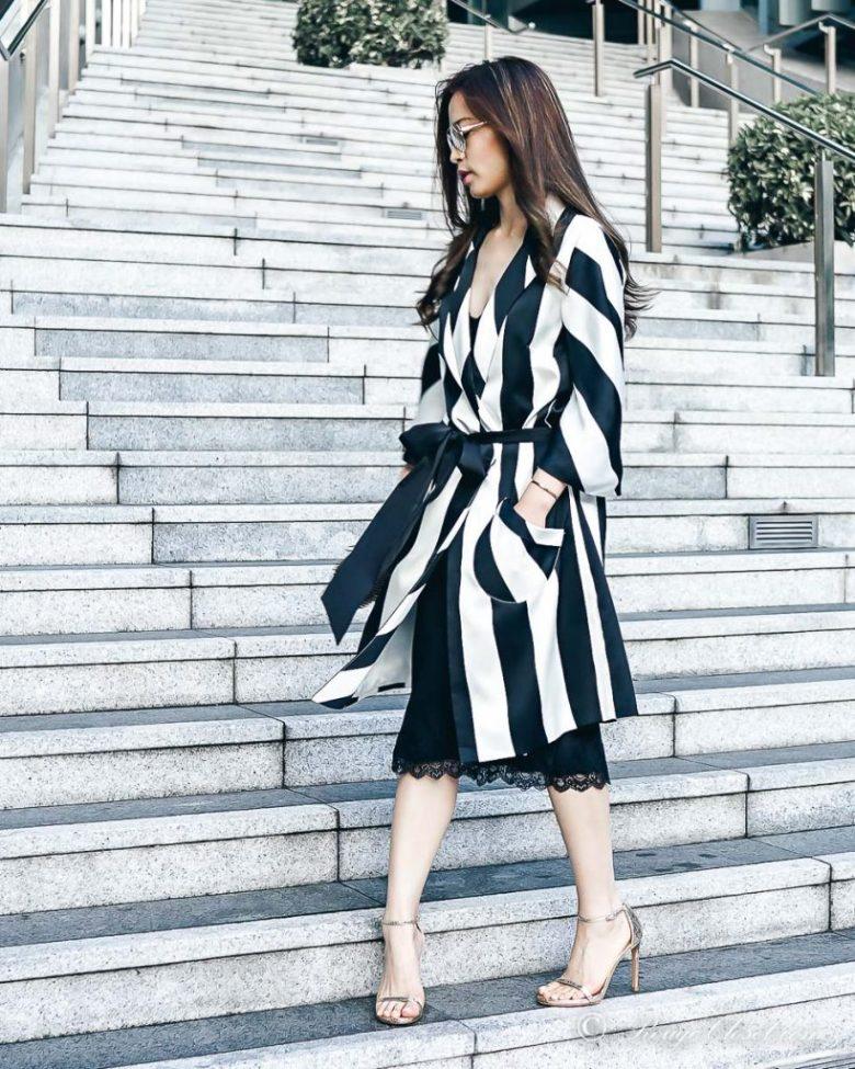 Sarah Lai The Thelma Kimono - fashion action shot