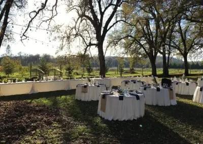 Rough & Ready Vineyard Nevada County's Favorite Vineyard Outdoor Reception Setup