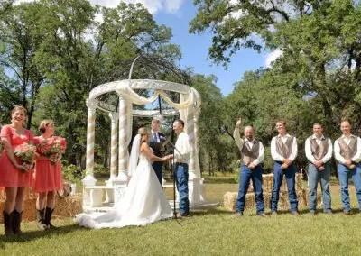 wedding in the gazebo rustic setting