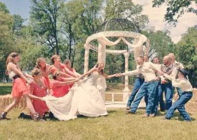 Wedding party fun at Rough & Ready Vineyards Nevada County's Favorite Vineyard Wedding Venue