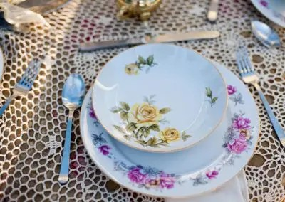 outdoor wedding place setting