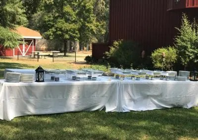 galley image of catering setup