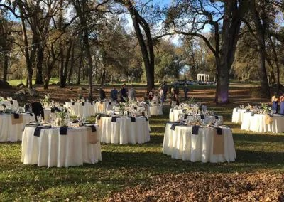 Garden wedding venue reception at Rough and Ready vineyards