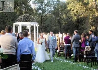 outdoor wedding venue ceremony at the gazebo