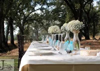 outdoor wedding venue reception table