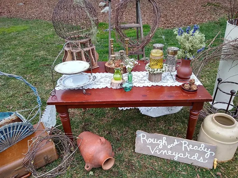 Boho style wedding theme décor