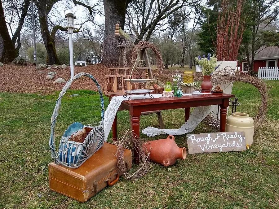 Boho Wedding decor for outdoor wedding venue