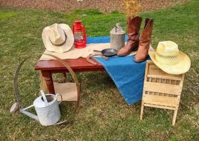 Country wedding décor