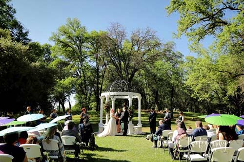 Josh and Bryna's wedding ceremony. Photo by Darling Photography
