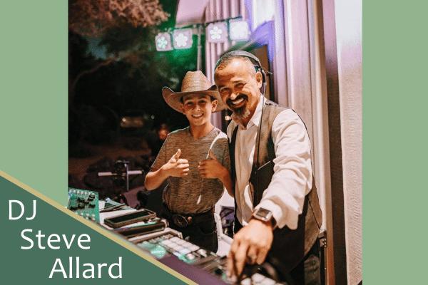 DJ Steve Allard working an event with his son