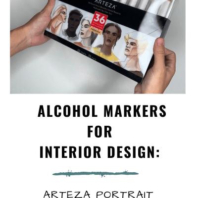 Arteza Everblend Markers for Interior Design Rendering: Portrait Set