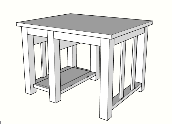 The final piece of the kitchen island