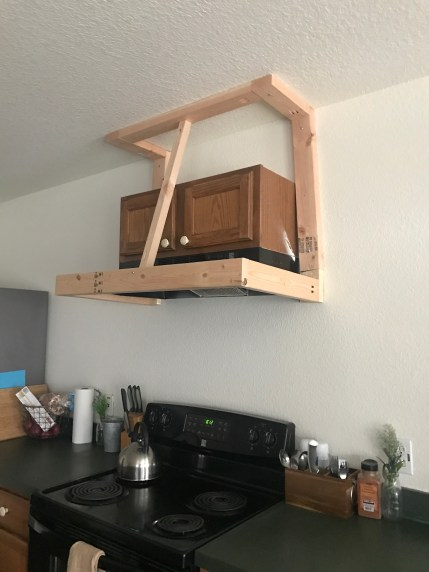 DIY Rustic Vent Hood Cover: the frame