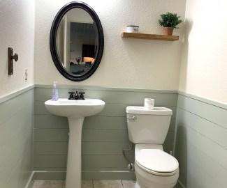 HGTVs Fixer Upper Hot Sauce inspired powder room