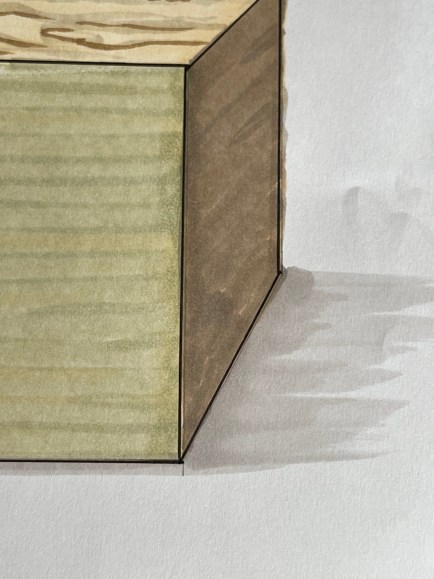markers for interior sketching layering
