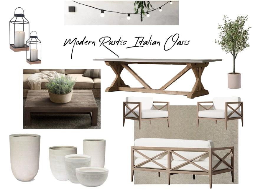 Modern Rustic Italian Patio Design