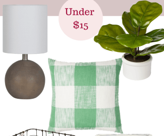 Target store home decor finds under $15