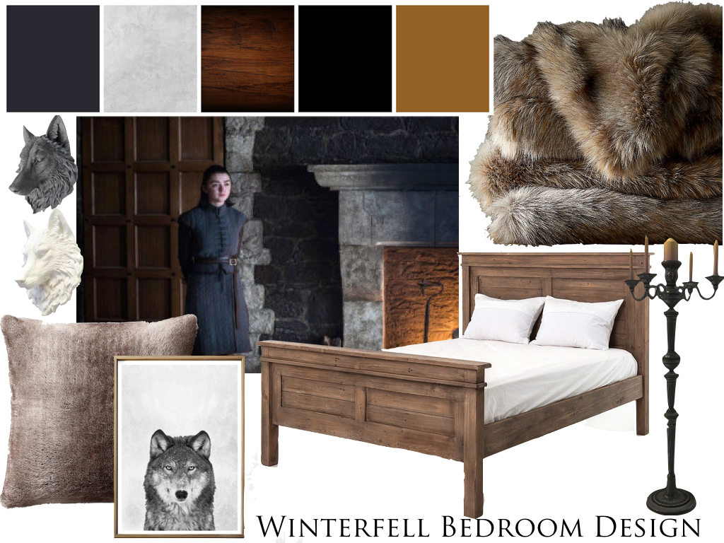 Winter fell bedroom design Mood Board