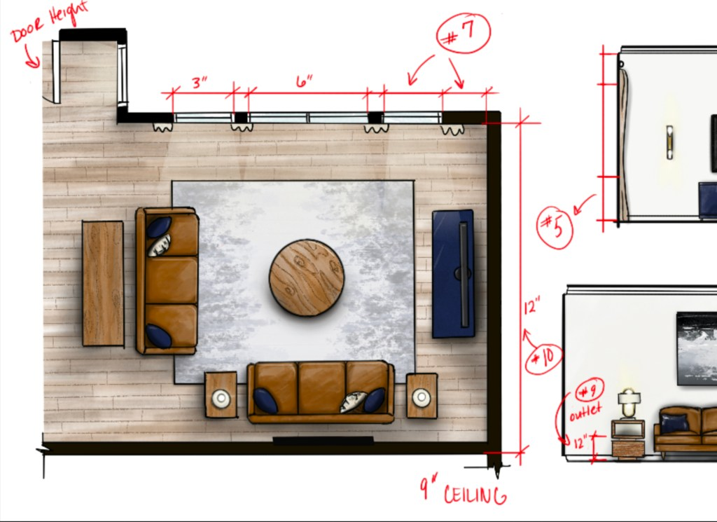 measuring a room notations