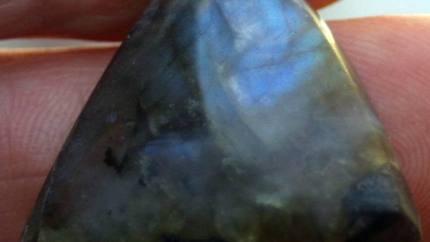 Labradorite Cab Isolated Labradoresence
