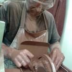 cutting the zebra stone