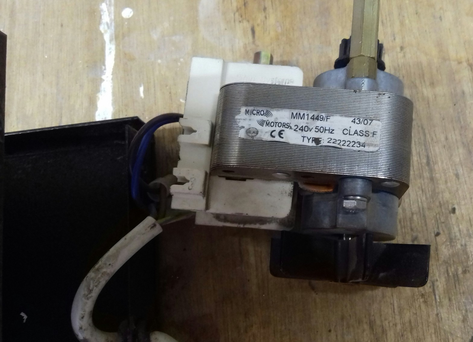 motor problem on our evans cr2 rock tumbler