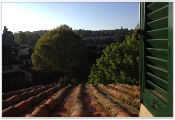 The view from Gabriella's window on Via Romana