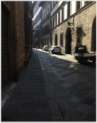 An early morning walk along Via Santo Spirito