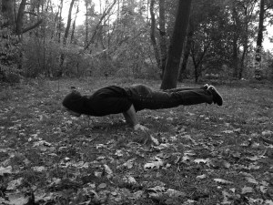 Elbow Lever in the Wood