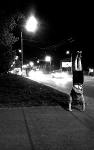 Roadside Handstand by Alex Zinchenko