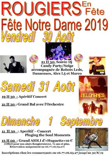 Fête de Notre Dame 2019