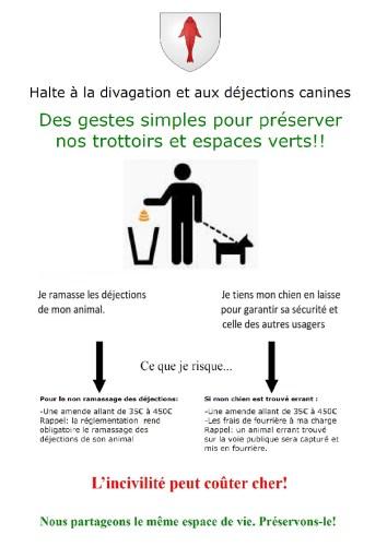 Halte à la Divagation et aux Déjections canines