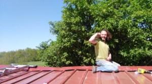 Mickaël sur le toit