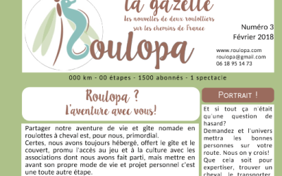 the Roulopa gazette number 3 has arrived! in full color.