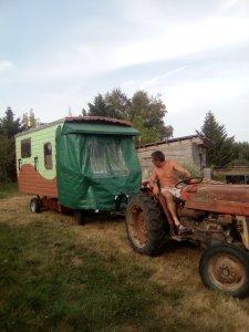 roulotte, tracteur