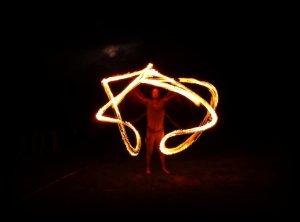 jonglage, feu