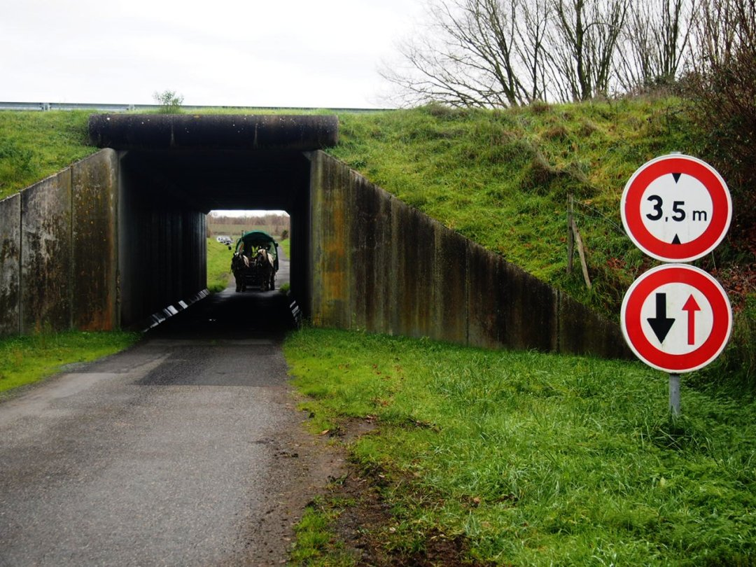 pont, tunel roulotte