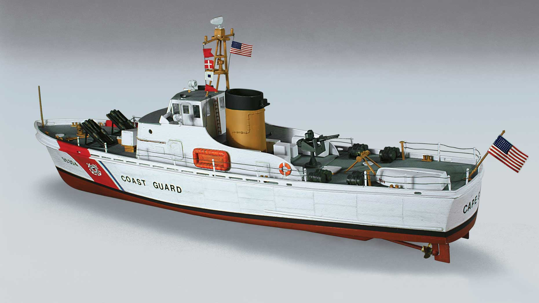 This Kit Features The Iconic Cape Class Patrol Boat Used By The US Coast  Guard. From The 1950s Until The 1980s These 95 Ft Cutters Would Be Seen  Patrolling ...