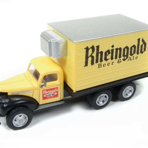 small resolution of mini metals 1941 46 chevy refrigerated box truck rheingold beer round2