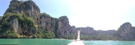 View coming into Hat Ton Sai, the beach next to Railay