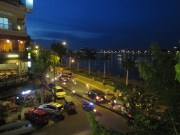 Drinks and dinner at a second story riverside restaurant in Phnom Penh