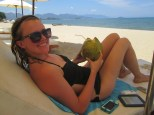 Mmmmm... fresh coconut water, a staple nearly every day