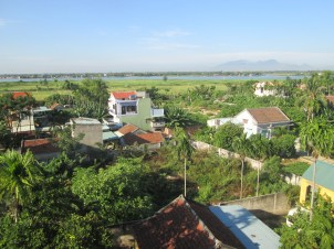 View from the top floor restaurant of our hotel in Hoi An
