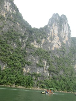 Huge vertical walls along the river