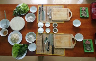 Spread for the first course of our Vietnamese cooking class